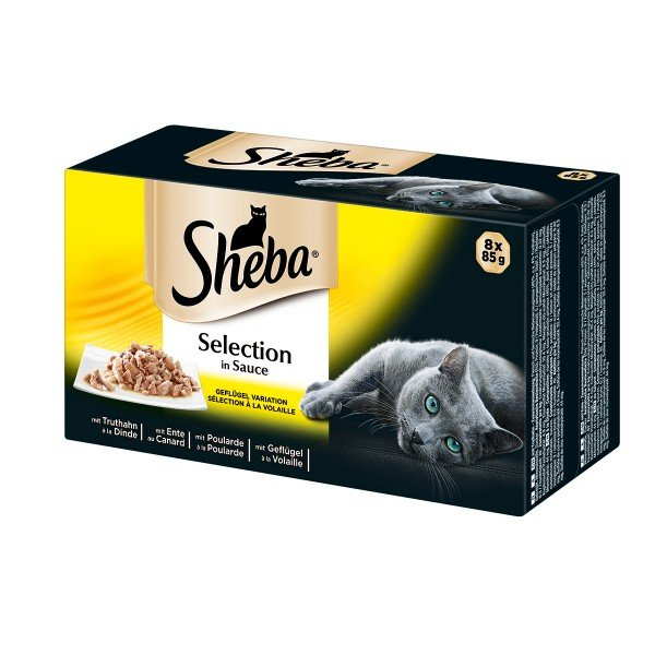Sheba 8er Multipack Selection in Sauce Geflügel Variation 8x85g