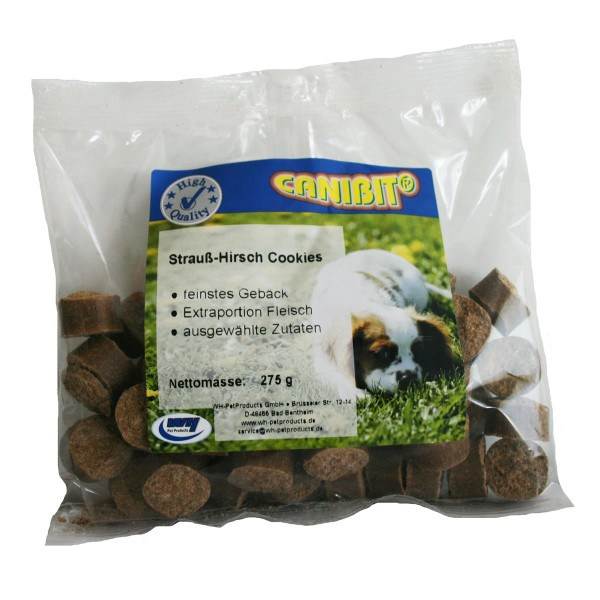 Caniland Hundesnack Strauß & Hirsch Cookies 275g