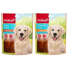 ZooRoyal Fleischsnack Probierpaket 2x150g
