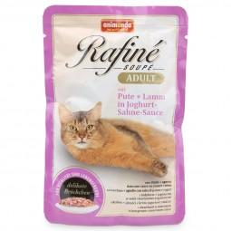 Animonda Katzenfutter Rafiné Soupé Adult mit Pute & Lamm in Joghurt-Sauce