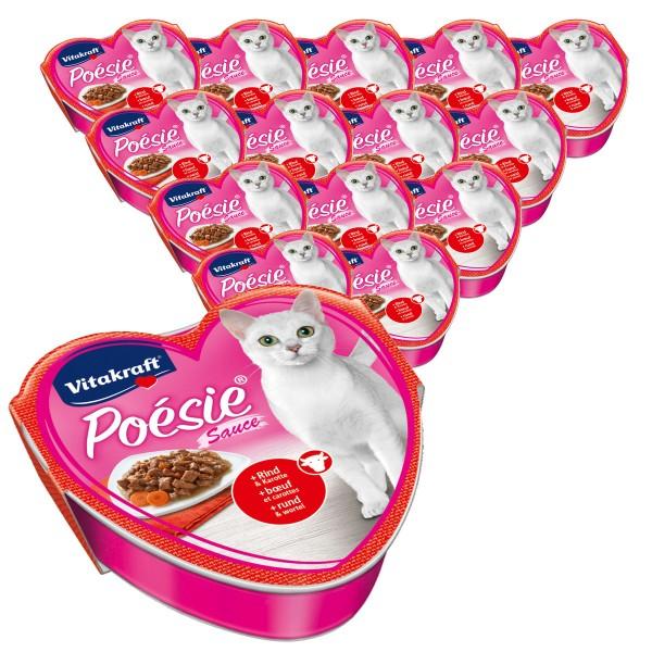 Vitakraft Katzenfutter Poésie mit Rind und Karotte in Sauce 15x85g
