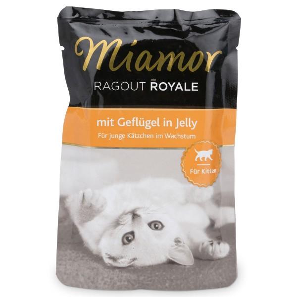Miamor Katzenfutter Ragout Royale in Jelly Kitten Geflügel