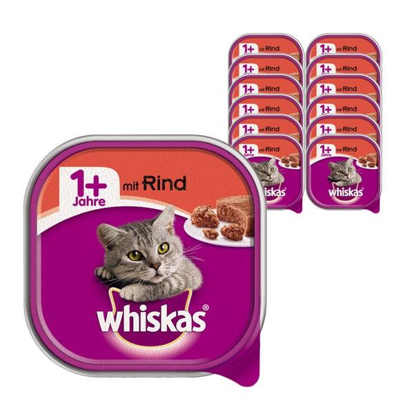 Whiskas Katzenfutter 1+ mit Rind 32 x 100g