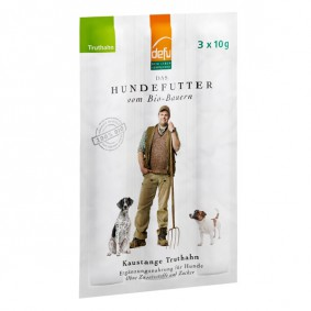 Defu Hundesnack Bio Kaustange Truthahn 30g (3x10g)
