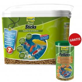 Tetra Teichfutter Pond Sticks 7L Eimer + Tetra Pond Teichfutter Pellets 1L gratis