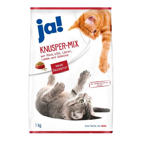 ja! Katzenfutter Knuspermix 1kg