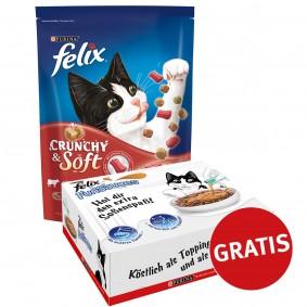 FELIX Crunchy & Soft Rind 4x950g plus FunSauces Mischpaket gratis