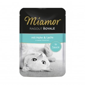 Miamor Ragout Royale in Sauce Huhn und Lachs