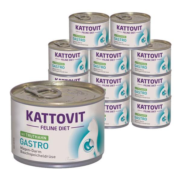 KATTOVIT Katzenfutter Feline Diet Gastro Truthahn 12x175g