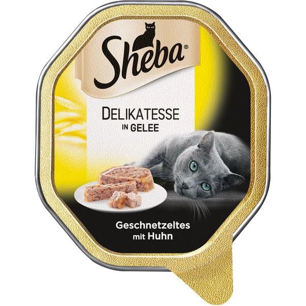 Sheba Katzenfutter Delikatesse in Gelee Huhn - 85g