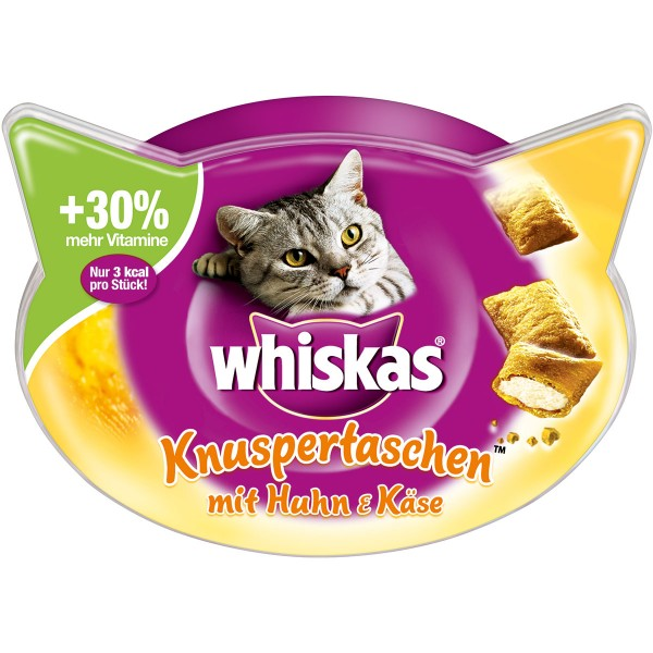 Whiskas Knuspertaschen Huhn & Käse 60g