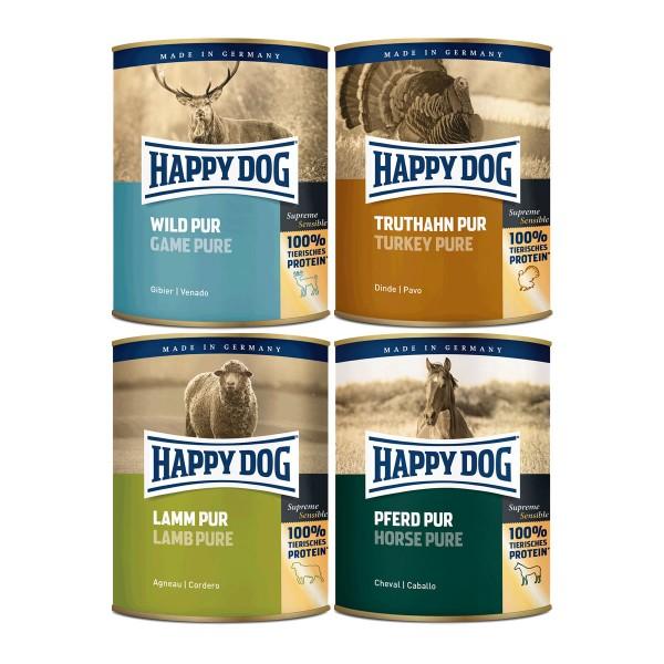 Happy Dog Pur 24x800g Mixpaket 2