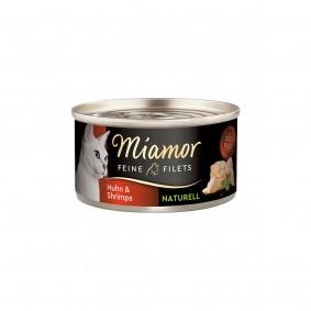 Miamor Feine Filets Naturell Huhn & Shrimps