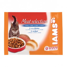 Iams Multipack Selection Meat in Sauce 4x100g