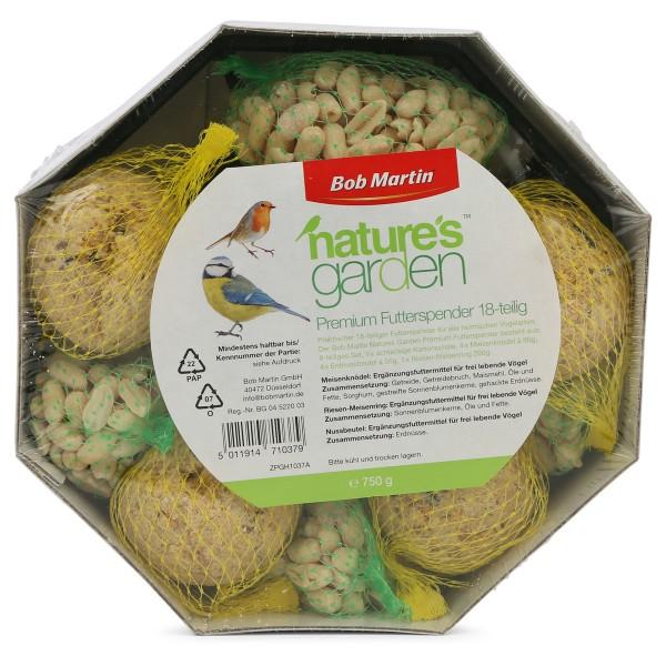 Bob Martin Wildvogelfutter natures garden Premium-Futterspender 750g