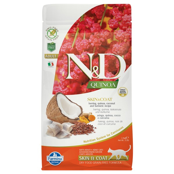 N&D Cat Quinoa Skin & Coat Herring