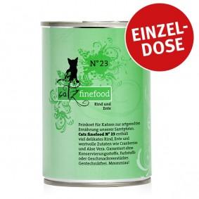 CATZ Finefood Katzen Nassfutter No. 23 Rind & Ente 400g