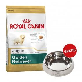 Royal Canin Golden Retriever Junior 12kg + Edelstahlnapf silber gratis