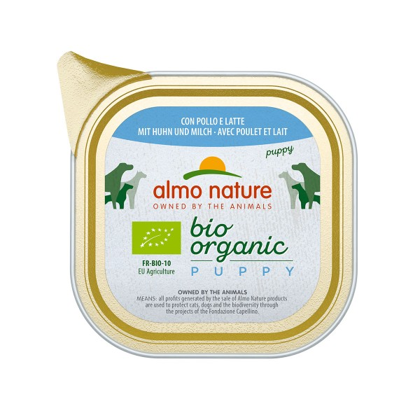 Almo Nature Bio Organic Dog Puppy mit Huhn