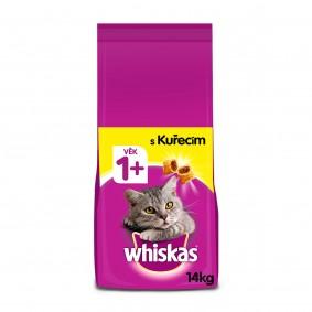 Whiskas granule s kuřecím pro dospělé kočky