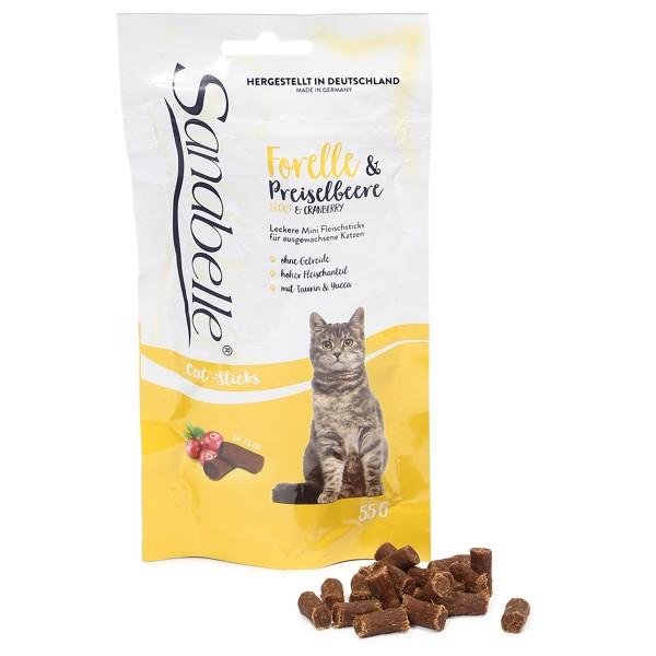 Sanabelle Katzensnack Forelle & Preiselbeere 55g