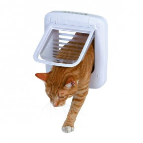 Trixie 4-Wege Katzenklappe, elektromagnetisch 23 x 26,5 cm