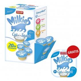 Animonda Katzensnack Milkies Schleck-Snack Active 20x15g PLUS 4x15g Gratis