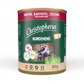 Christopherus Hundemenü mit Rentier, Kartoffel und Zucchini
