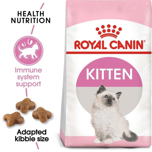 ROYAL CANIN KITTEN Trockenfutter 2kg + Nassfutter in Soße 12x85g