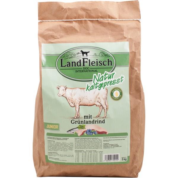 Landfleisch Dog Natur kaltgepresst Junior mit Grünlandrind