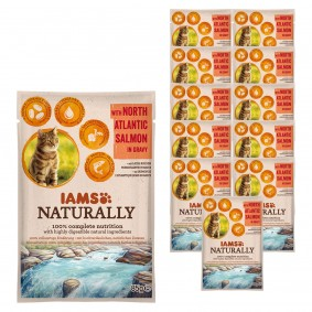 IAMS Naturally Katze Nassfutter Adult Lachs in Sauce