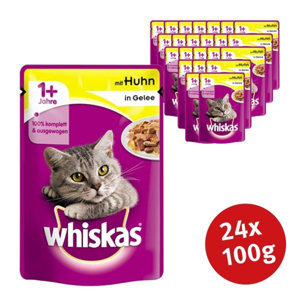 Whiskas Katzenfutter 1+ mit Huhn in Gelee