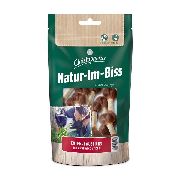 Christopherus Hundesnack Natur-Im-Biss Enten-Kausticks 70g