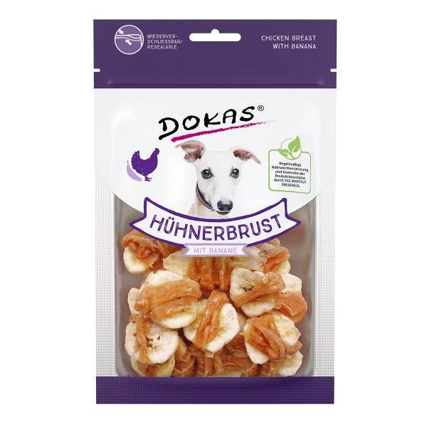 Dokas Hundesnack Hühnerbrust mit Banane 70g