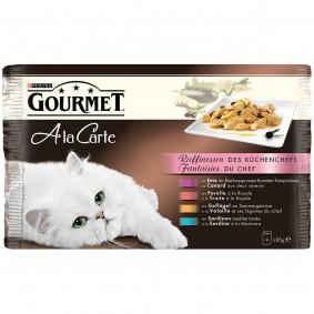Gourmet Nassfutter Raffinessen des Küchenchefs 4er Pack
