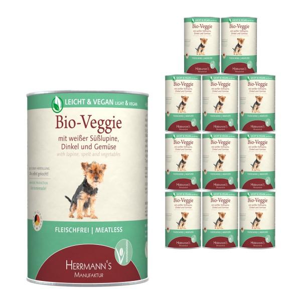 Herrmanns Bio Hundefutter Veggie mit weißer Süßlupine, Dinkel und Gemüse 12x400g