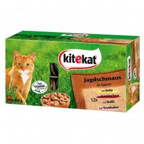 Kitekat Katzenfutter Jagdschmaus Multipack 48x100g