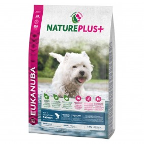 Eukanuba NaturePlus+ Adult Small Breed s lososem