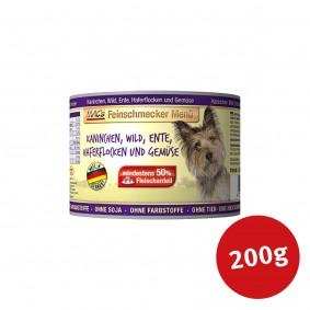 MAC's Dog Hundefutter Feinschmecker Menü Kaninchen, Wild und Ente