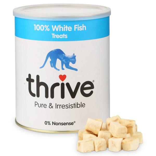 thrive 100% Weißer Fisch Katzensnack MaxiTube