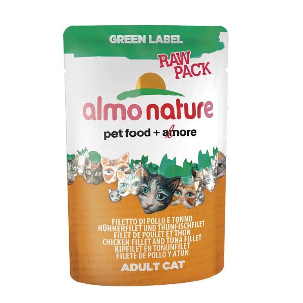 Almo Nature Katzenfutter Green Label Raw Pack 55g