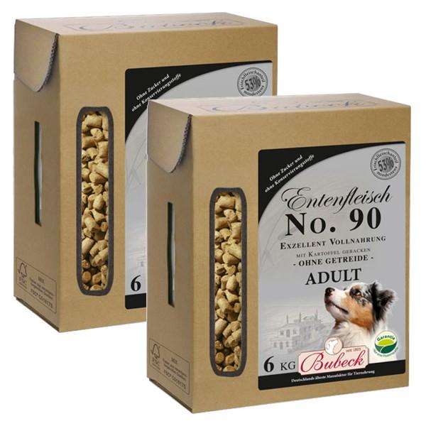Bubeck Hundefutter Trockenfutter Wild, Lamm, Pferd, Ente 2x6 kg