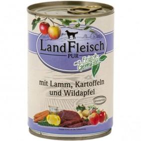 Landfleisch Dog Pur Lamm und Ente mit Kartoffel und Wildapfel 12x400g