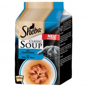 Filety z tuňáka Sheba Soup, multipack 4 x 40 g