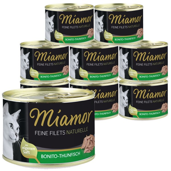 Miamor Feine Filets Naturelle Bonito-Thunfisch 12x156g