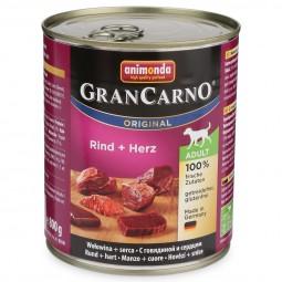Animonda Hunde-Nassfutter GranCarno Adult Rind und Herz