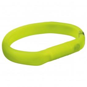 Trixie USB Flash svítící obojek, zelený