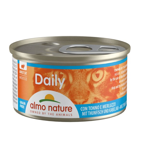 Almo Nature PFC Daily Menu Cat Mousse mit Thunfisch und Kabeljau