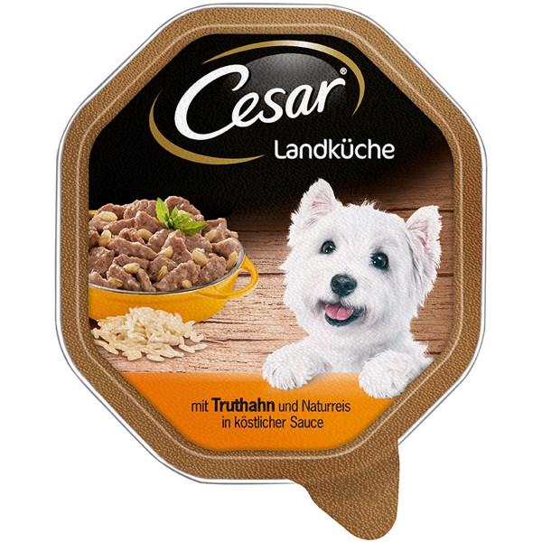 Cesar Landküche Truthahn & Naturreis in Sauce