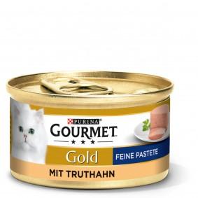 GOURMET Gold Feine Pastete Katzennassfutter mit Truthahn